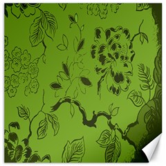 Abstract Green Background Natural Motive Canvas 16  X 16