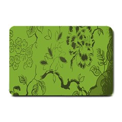 Abstract Green Background Natural Motive Small Doormat