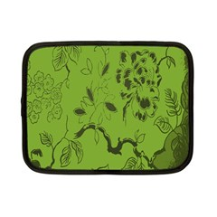 Abstract Green Background Natural Motive Netbook Case (small)