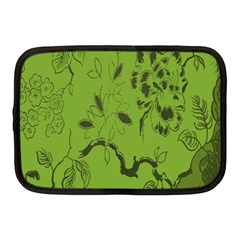 Abstract Green Background Natural Motive Netbook Case (medium)