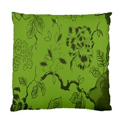 Abstract Green Background Natural Motive Standard Cushion Case (two Sides)
