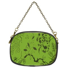 Abstract Green Background Natural Motive Chain Purses (two Sides)