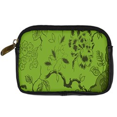 Abstract Green Background Natural Motive Digital Camera Cases