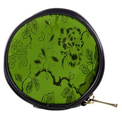 Abstract Green Background Natural Motive Mini Makeup Bags