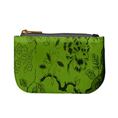 Abstract Green Background Natural Motive Mini Coin Purses