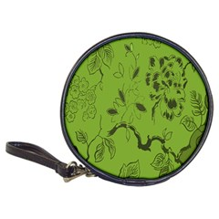 Abstract Green Background Natural Motive Classic 20 Cd Wallets