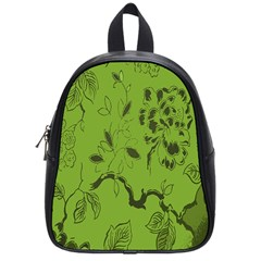 Abstract Green Background Natural Motive School Bags (small)