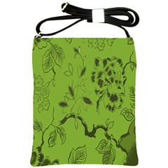 Abstract Green Background Natural Motive Shoulder Sling Bags