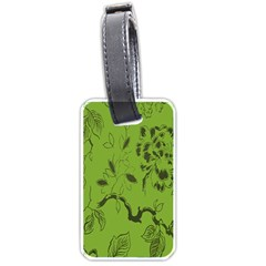 Abstract Green Background Natural Motive Luggage Tags (two Sides)