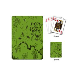 Abstract Green Background Natural Motive Playing Cards (mini)