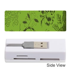 Abstract Green Background Natural Motive Memory Card Reader (stick)