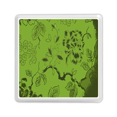 Abstract Green Background Natural Motive Memory Card Reader (square)