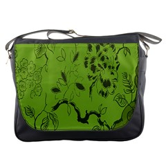 Abstract Green Background Natural Motive Messenger Bags
