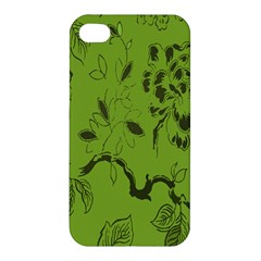 Abstract Green Background Natural Motive Apple iPhone 4/4S Premium Hardshell Case