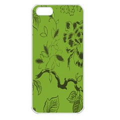 Abstract Green Background Natural Motive Apple iPhone 5 Seamless Case (White)