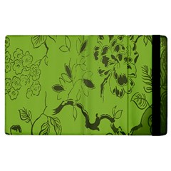 Abstract Green Background Natural Motive Apple iPad 3/4 Flip Case