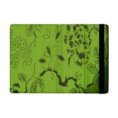 Abstract Green Background Natural Motive Apple iPad Mini Flip Case
