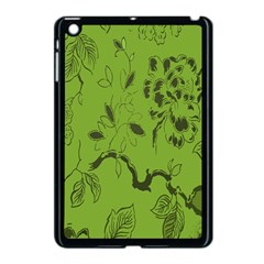 Abstract Green Background Natural Motive Apple iPad Mini Case (Black)