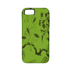 Abstract Green Background Natural Motive Apple iPhone 5 Classic Hardshell Case (PC+Silicone)