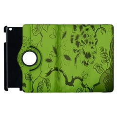 Abstract Green Background Natural Motive Apple iPad 3/4 Flip 360 Case