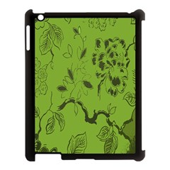 Abstract Green Background Natural Motive Apple iPad 3/4 Case (Black)