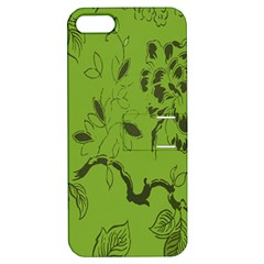 Abstract Green Background Natural Motive Apple iPhone 5 Hardshell Case with Stand