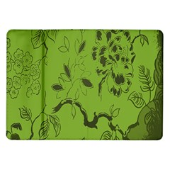Abstract Green Background Natural Motive Samsung Galaxy Tab 10.1  P7500 Flip Case
