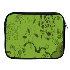 Abstract Green Background Natural Motive Apple iPad 2/3/4 Zipper Cases
