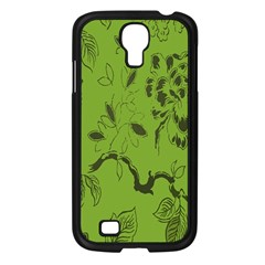 Abstract Green Background Natural Motive Samsung Galaxy S4 I9500/ I9505 Case (Black)