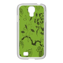 Abstract Green Background Natural Motive Samsung GALAXY S4 I9500/ I9505 Case (White)