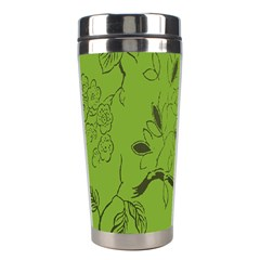 Abstract Green Background Natural Motive Stainless Steel Travel Tumblers