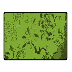 Abstract Green Background Natural Motive Double Sided Fleece Blanket (Small)