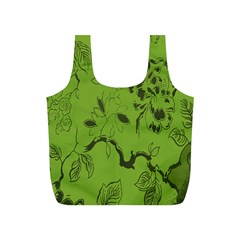 Abstract Green Background Natural Motive Full Print Recycle Bags (S)