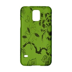 Abstract Green Background Natural Motive Samsung Galaxy S5 Hardshell Case