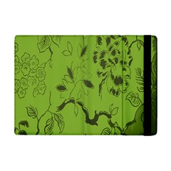 Abstract Green Background Natural Motive Ipad Mini 2 Flip Cases