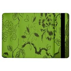Abstract Green Background Natural Motive iPad Air Flip