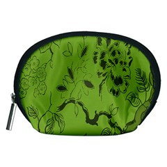 Abstract Green Background Natural Motive Accessory Pouches (medium)