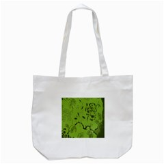 Abstract Green Background Natural Motive Tote Bag (white)