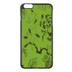 Abstract Green Background Natural Motive Apple iPhone 6 Plus/6S Plus Black Enamel Case