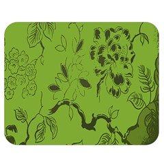 Abstract Green Background Natural Motive Double Sided Flano Blanket (Medium)