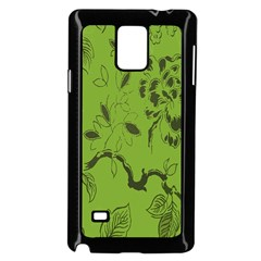 Abstract Green Background Natural Motive Samsung Galaxy Note 4 Case (Black)