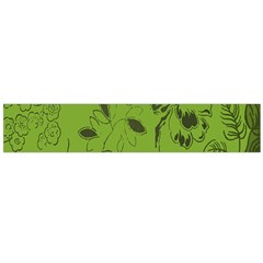 Abstract Green Background Natural Motive Flano Scarf (Large)