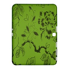 Abstract Green Background Natural Motive Samsung Galaxy Tab 4 (10.1 ) Hardshell Case