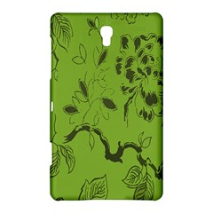 Abstract Green Background Natural Motive Samsung Galaxy Tab S (8 4 ) Hardshell Case
