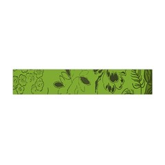 Abstract Green Background Natural Motive Flano Scarf (mini)
