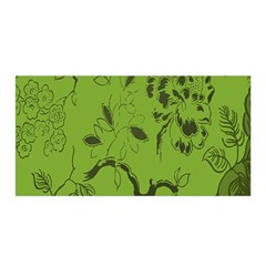 Abstract Green Background Natural Motive Satin Wrap
