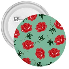 Floral Roses Wallpaper Red Pattern Background Seamless Illustration 3  Buttons