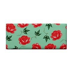 Floral Roses Wallpaper Red Pattern Background Seamless Illustration Cosmetic Storage Cases
