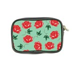 Floral Roses Wallpaper Red Pattern Background Seamless Illustration Coin Purse Back