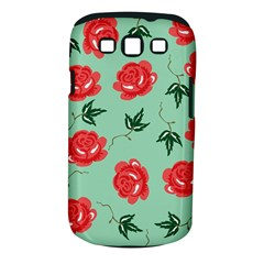 Floral Roses Wallpaper Red Pattern Background Seamless Illustration Samsung Galaxy S III Classic Hardshell Case (PC+Silicone)